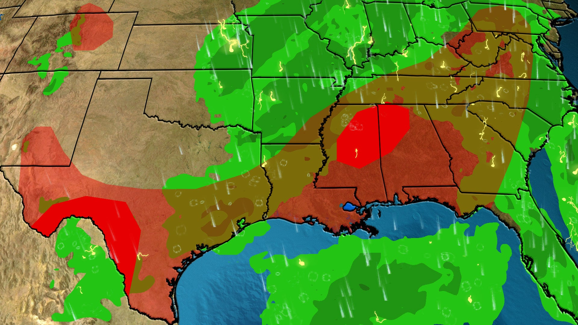Stormy, Stuck Pattern Brings Days of Rain to the South, Midwest and Plains, But Drier Conditions Are on the Way
