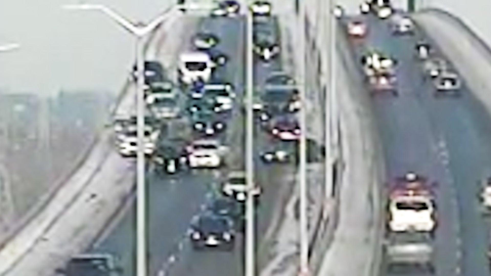 Traffic Cam Captures Massive Pileup in Green Bay, Wisconsin
