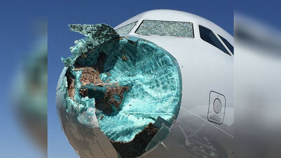 American Airlines Flight Makes Emergency Landing in El Paso Because of Hail Damage