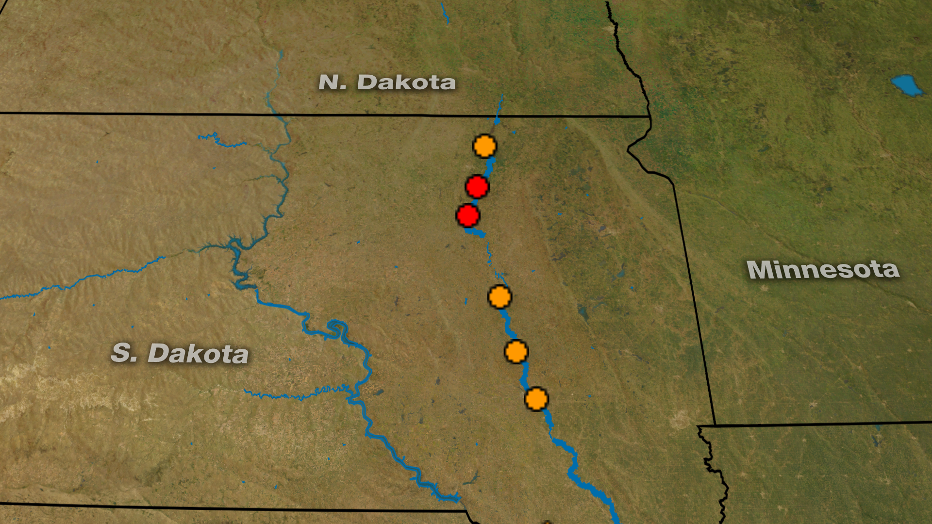 South Dakota River Has Been in Flood Stage for a Full Year