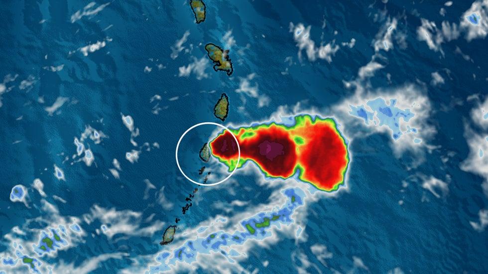 Satellite Images Show the Explosive Eruptions at St. Vincent's La Soufrière Volcano   The Weather Channel - Articles from The Weather Channel   weather.com
