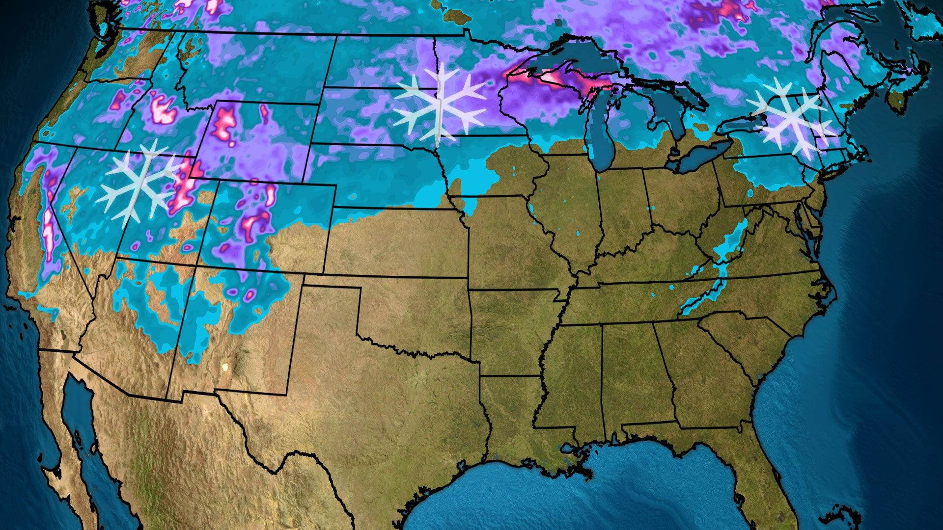 December in the Lower 48 Begins With Most Snow Cover in Years