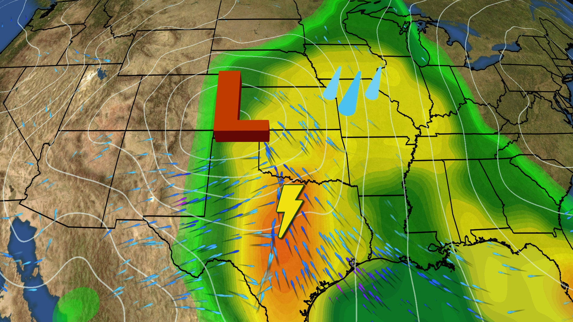 severe storms and flooding target plains  midwest this
