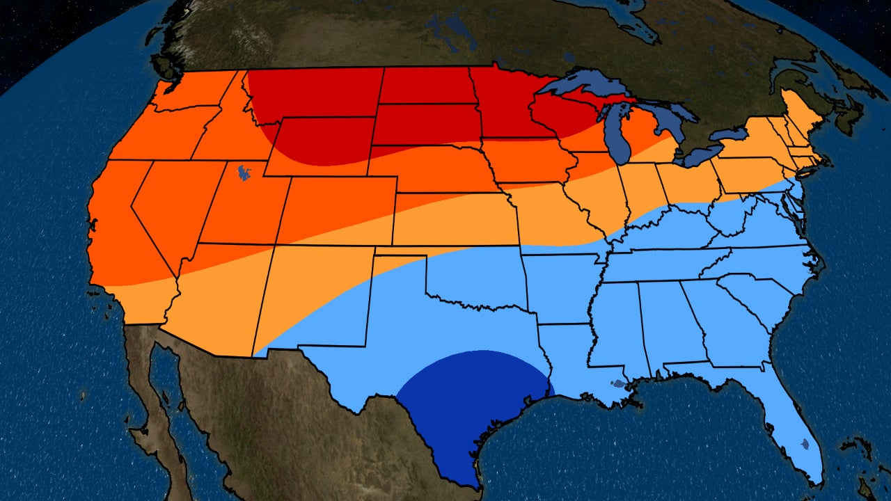 November to January 2019 Temperature Outlook: Mild in the North ...