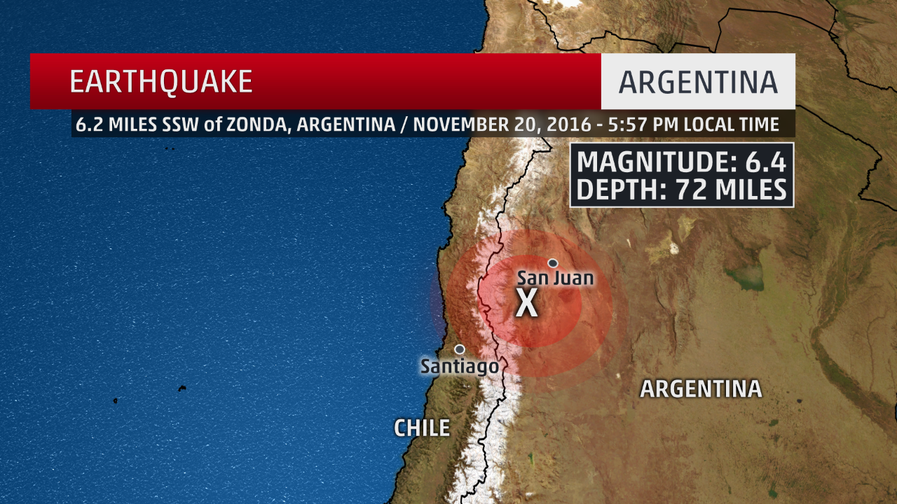 6.4 Magnitude Earthquake Hits Argentina