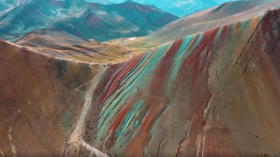'Rainbow Mountains' in Peru's Andes Make a Magical Landscape