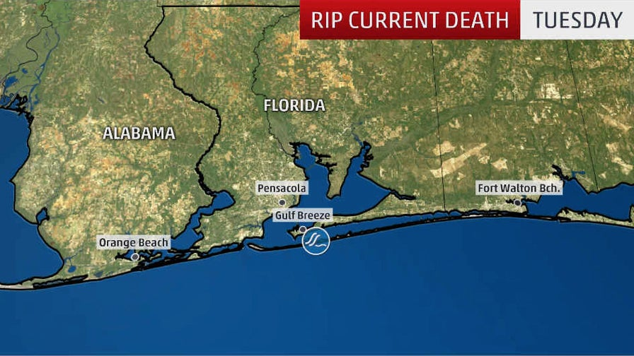 Rip Current Leaves 1 Dead, 5 Injured Off Florida's Pensacola Beach