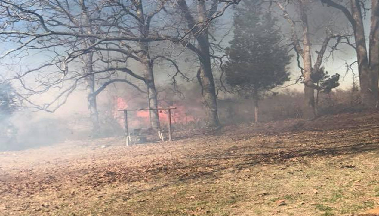 oklahoma grass fires fueled by dry conditions  gusty winds