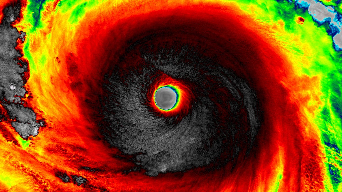 spectacular satellite images of powerful typhoon soudelor