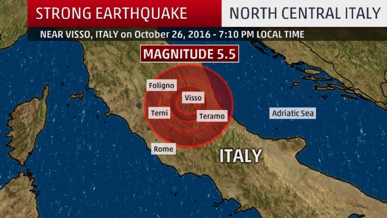 damaging earthquake shakes central italy  at least 2 hurt