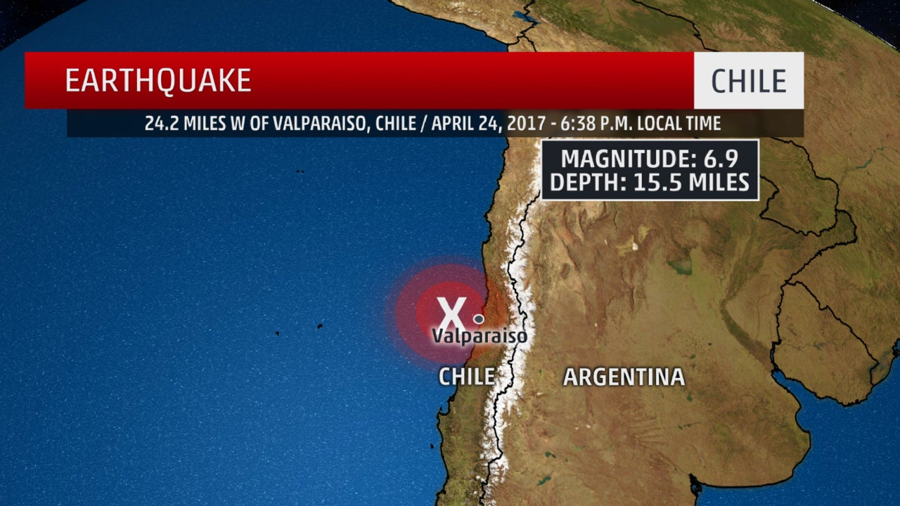 6.9 Earthquake Strikes Off Chile Coast; No Reports of Damage, Injuries | The Weather Channel