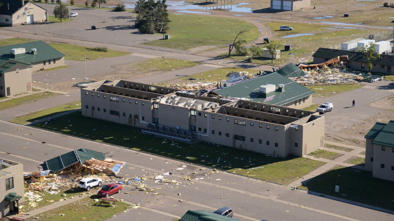 tornado causes significant damage to minnesota national