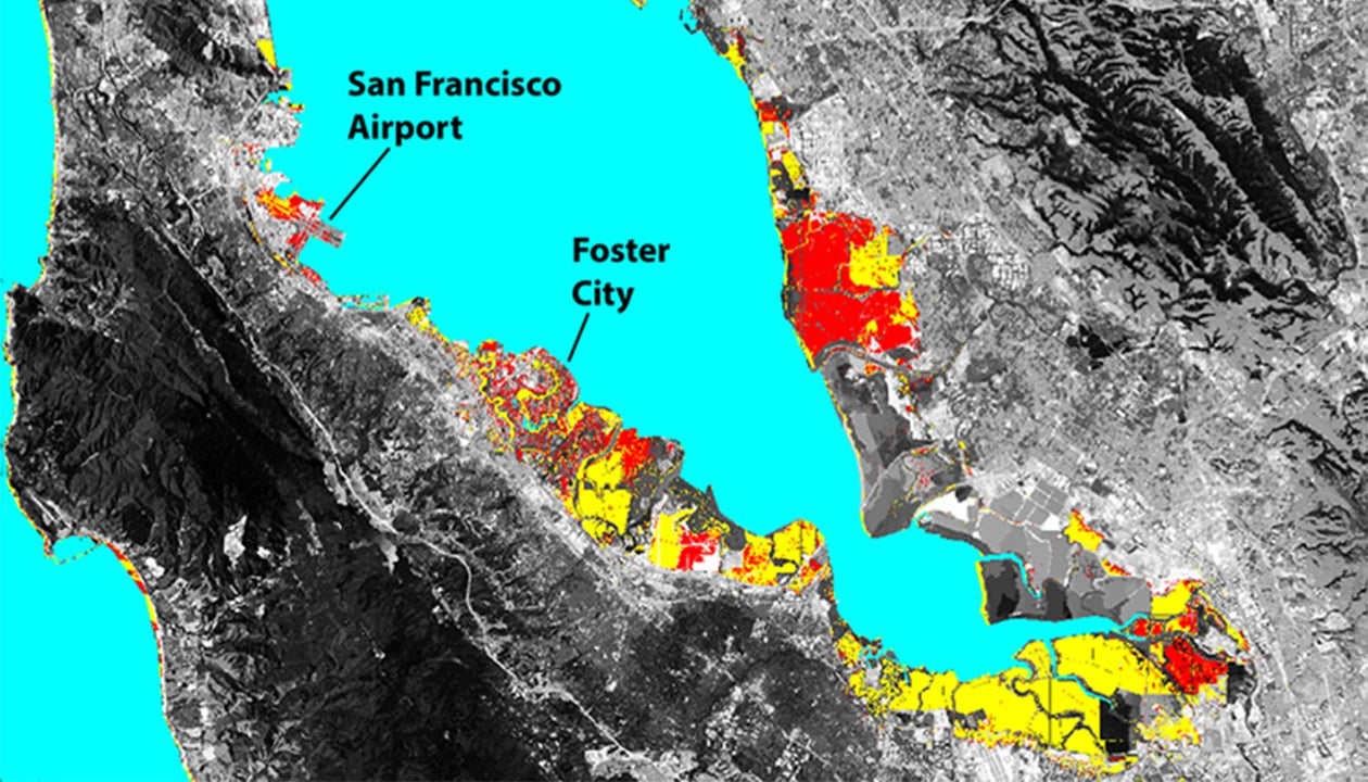 San Francisco Bay Area Land That Will Be Lost To Future
