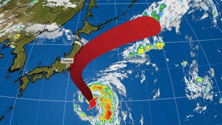typhoon shanshan forecast to at least brush japan