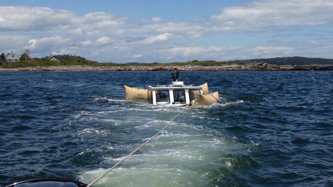 Lobster Boat Sinks