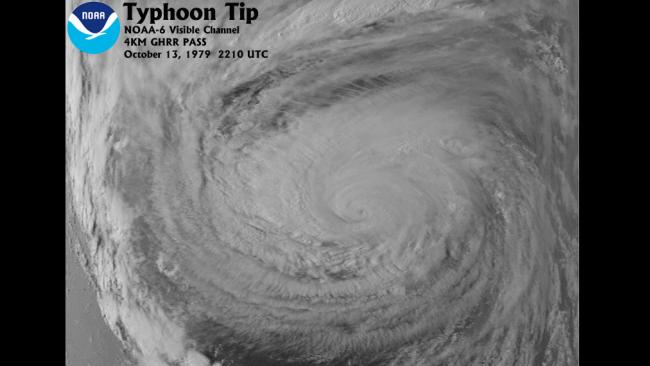 Largest Tropical Cyclone: Typhoon Tip (1979)