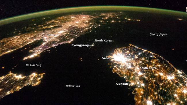 North Korea at Night