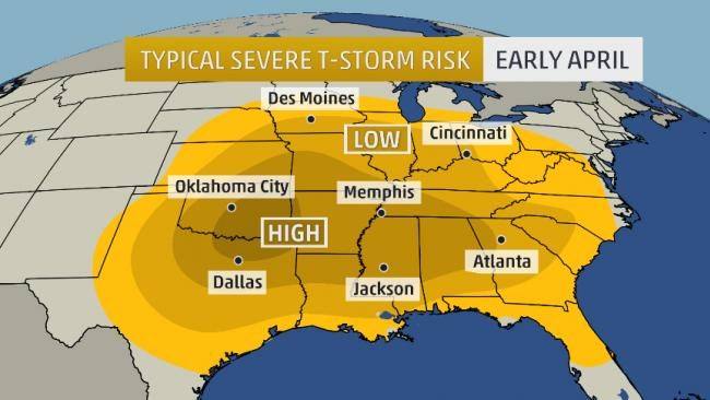 March 2014 Tornado Count Well Below Average – Weather Channel Travel Map