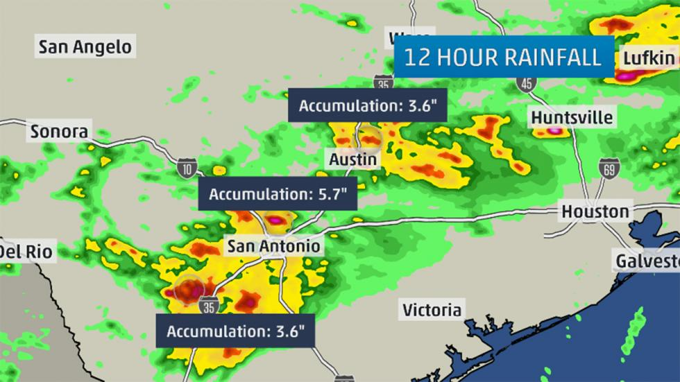 Flash Flooding Swamps Central, East Texas, Louisiana, Including Austin, San Antonio, Beaumont - weather.com