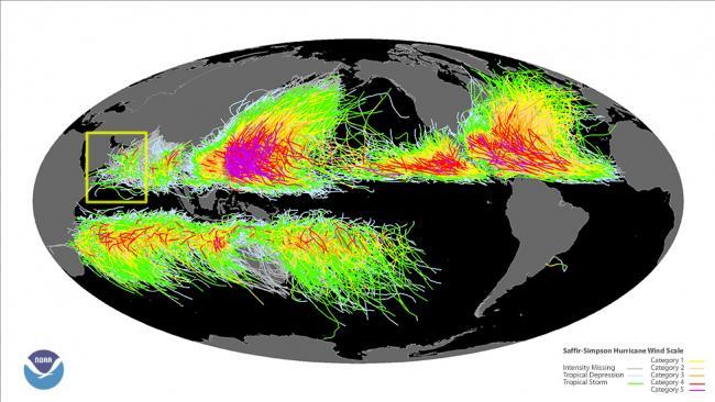 Global tropical cyclones