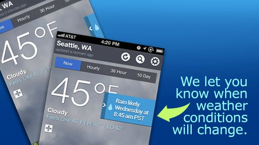 The Weather Channel iPhone App Screen