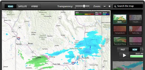 The weather channel app for windows with current conditions local
