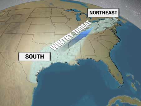 Winter returns to Deep South