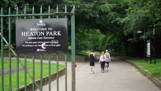 Station gate entrance heaton park this gate into heaton park is