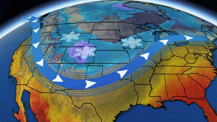 arctic cold and rounds of snow to spread from the west into the plains and upper midwest this