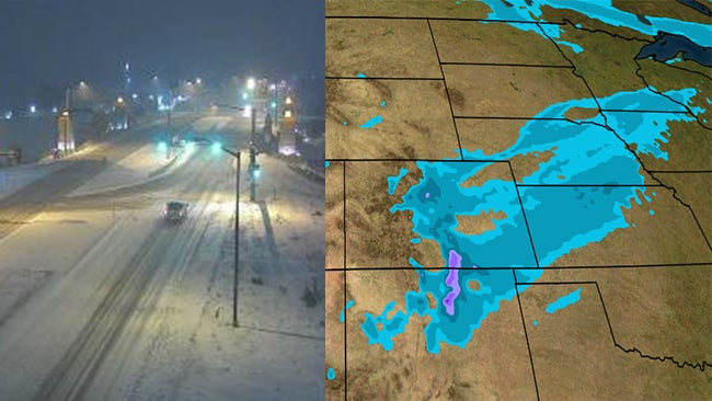 snow will blanket the rockies and plains from wyoming  colorado and new mexico to upper midwest