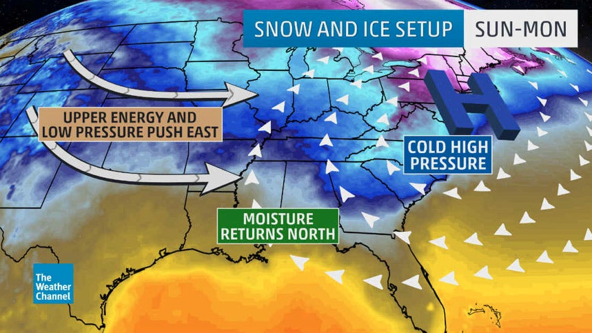 Winter Storm to Bring Snow Ice to Midwest South and Northeast