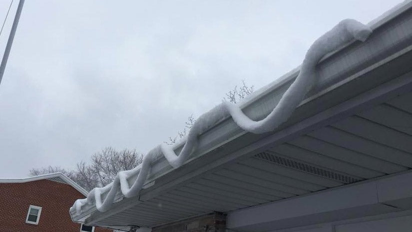 Melting Snow Can Make For Strange Sights on Roofs, Vehicles and Decks | The Weather Channel