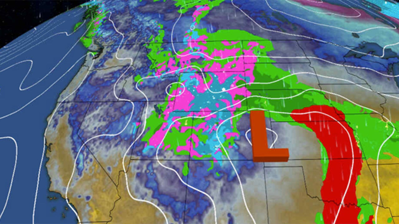 winter hangs tough with late season snow across the rockies and high plains