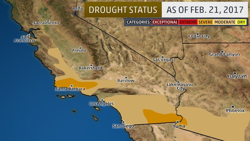 as southern california drought improves  record pace
