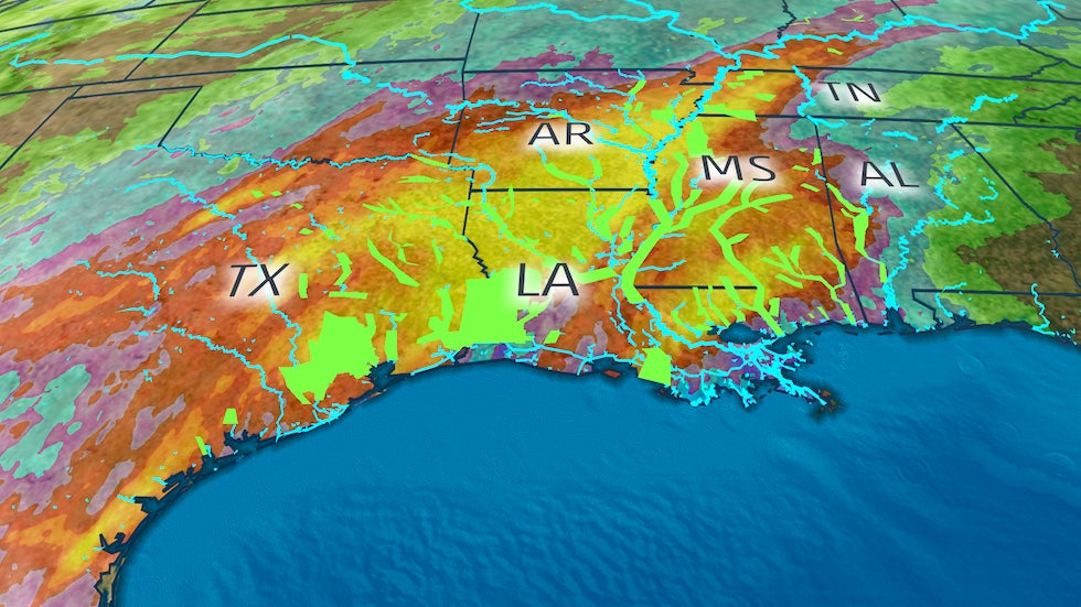 Over 26 Inches Of Rain Triggers Record Flooding In The South Including The Sabine River The Weather Channel