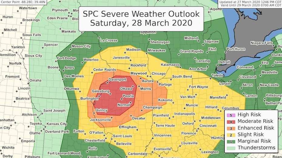 Severe Weather on Tap for Saturday