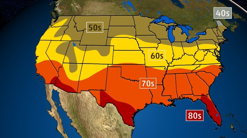 Here's When You Should See Your First 70- and 80-Degree Days