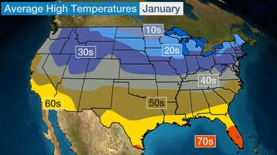 January Average High Temperatures