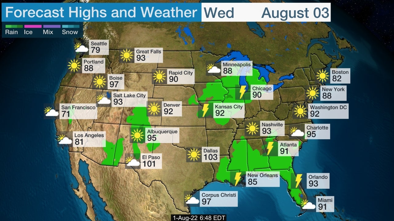 3 Day Weather Map Usa - Us-weekend-weather-map