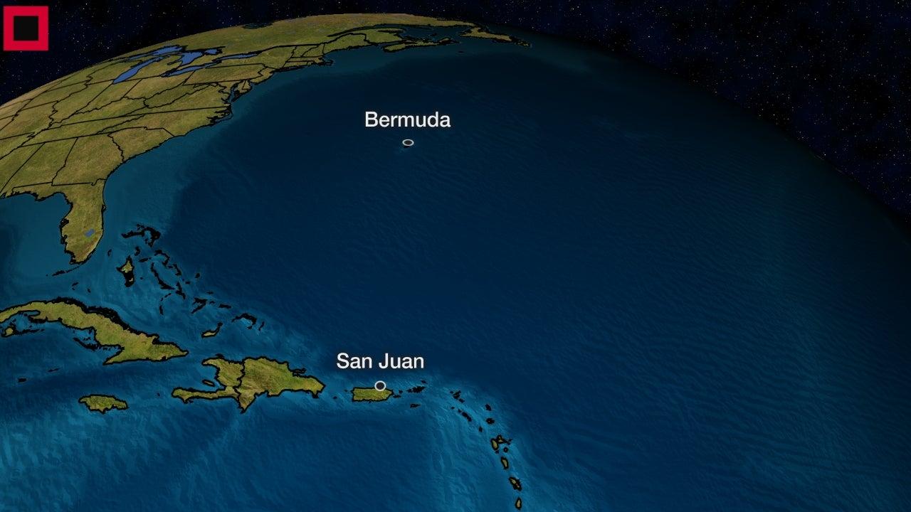 Subtropical Storm Andrea Forms in the Atlantic Ocean South of Bermuda