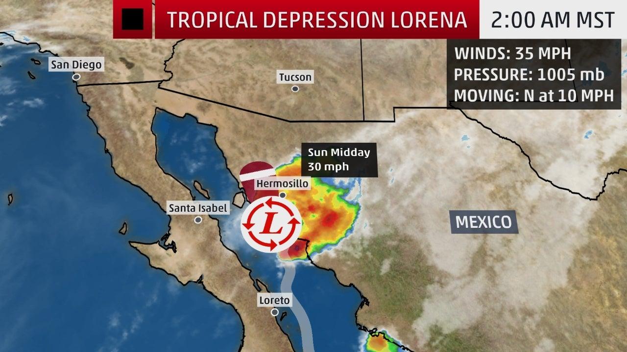 Hurricane Lorena Poses a Dangerous Flash Flood Threat to the Southwestern Mexico Coast