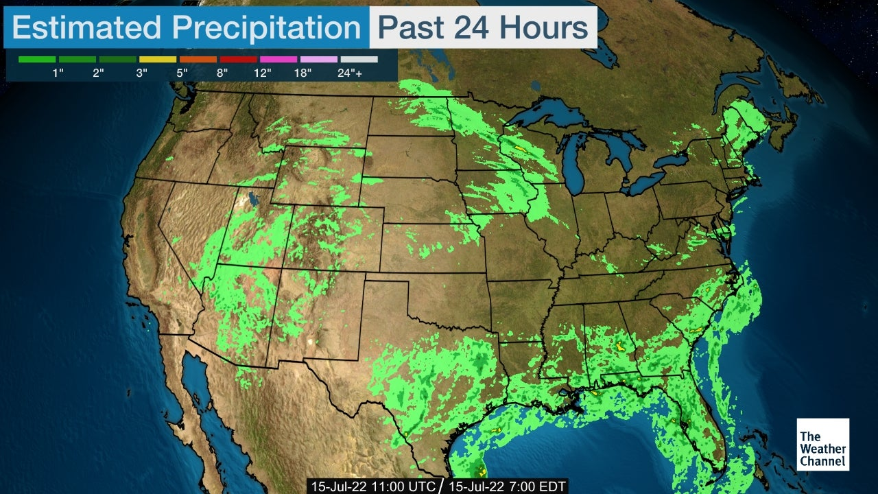 National 24 Hour Accumulated Precipitation