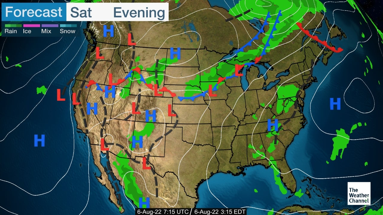 extended forecast surface weather maps
