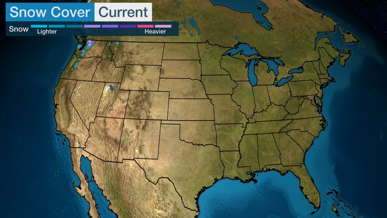 Current US Snowcovver Map