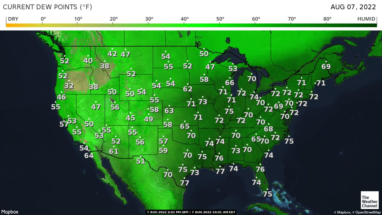 USA Dew Point