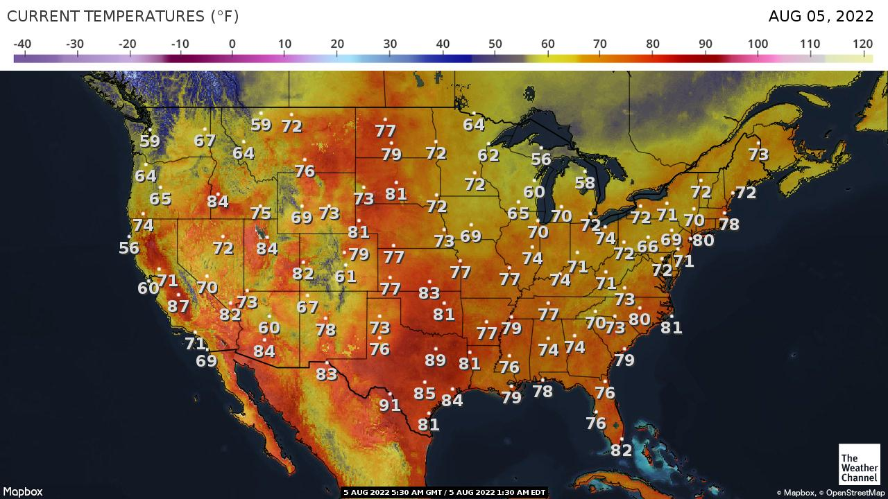 USA Temperature