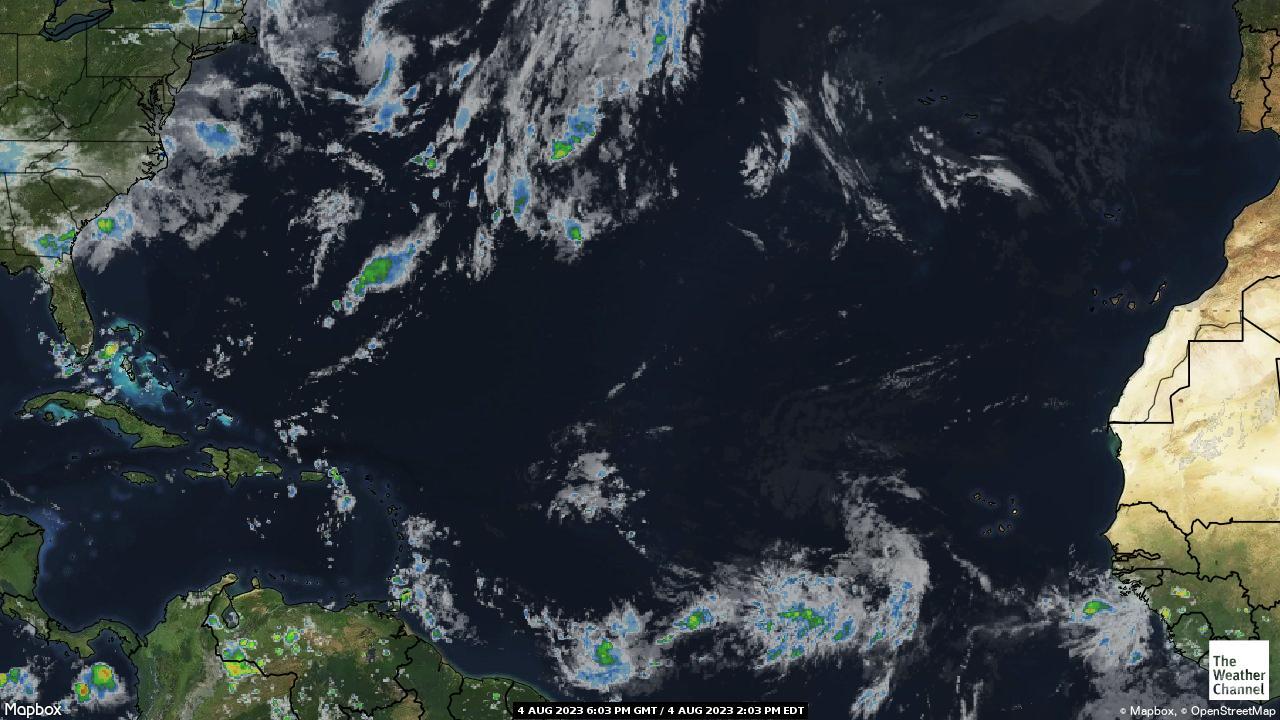 Počasí nad Atlantickým oceánem