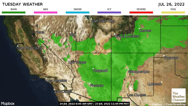 Weather Channel Us Map - 5 day us weather map