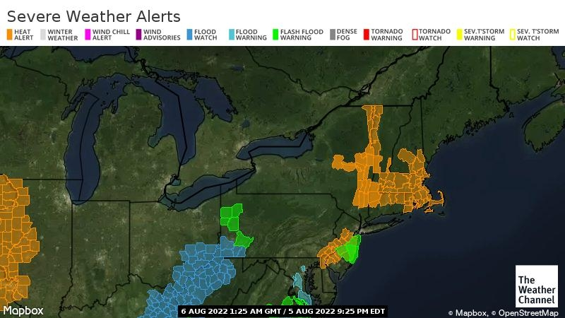 Link to Northeast Severe Weather Alerts Map