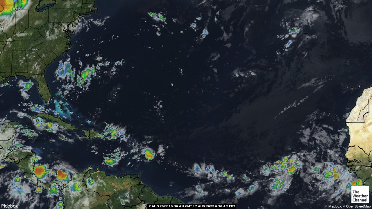 tropical atlantic satellite map